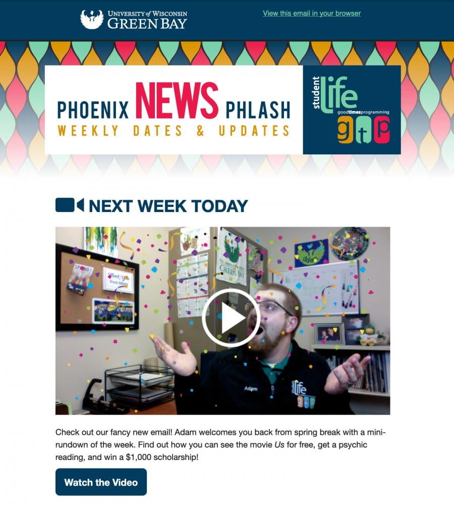 """Phoenix News Phlash"" Campus Life Email"