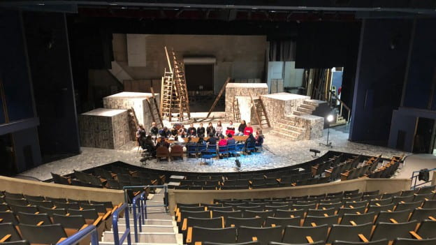 Green Bay East High School Arts Open House at UWGB, on the set of Julius Caesar - April 29, 2019