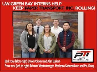 UW-Green Bay Interns Help Keep Paper Transport, Inc Rolling!