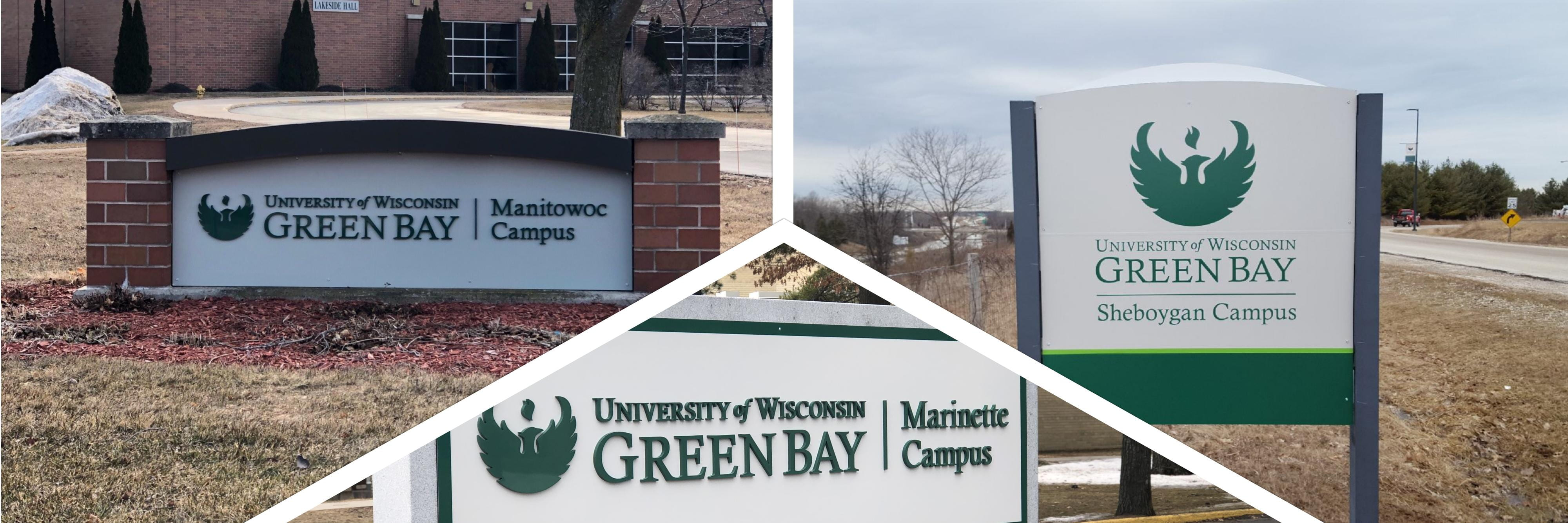 Branch campus signage collage