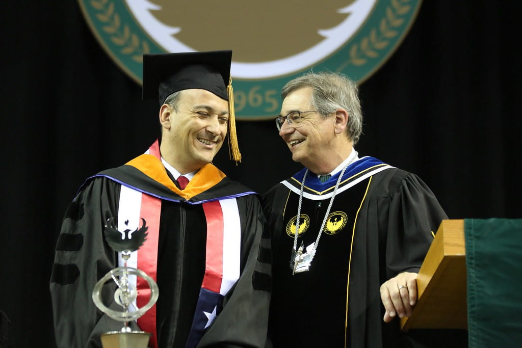 Researcher and collaborator Alex Godoy-Faúndez, bestowed an honorary degree