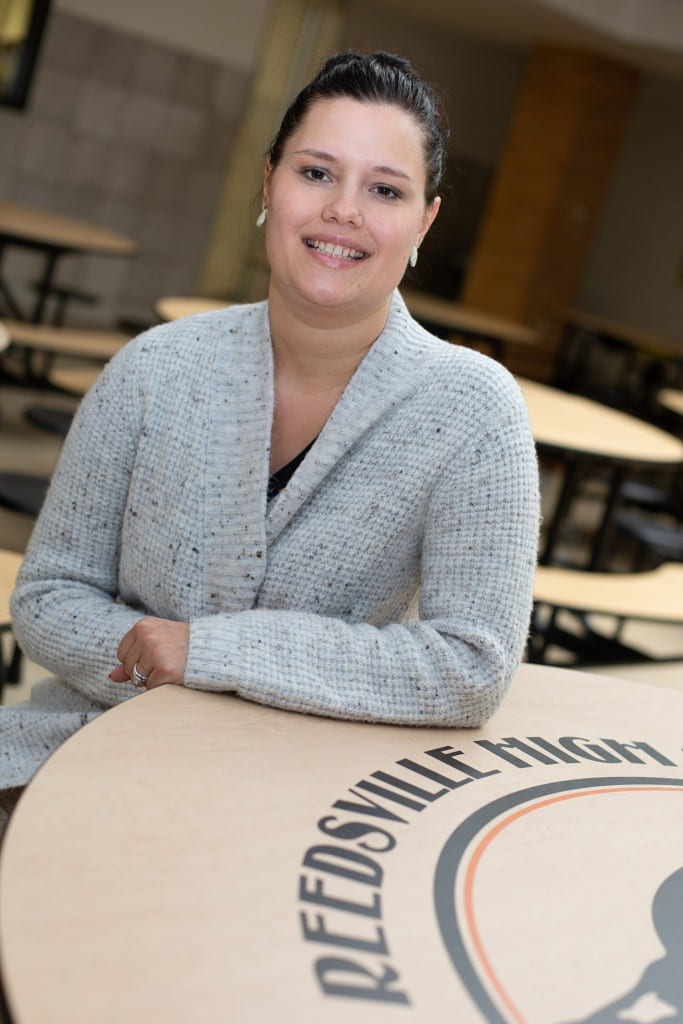 The need is great for school social workers. Amber Fredrick (above), already a practicing social worker, took advantage of UW-Green Bay's new emphasis so that she could start a new career in the schools. She now works for Reedsville School District.