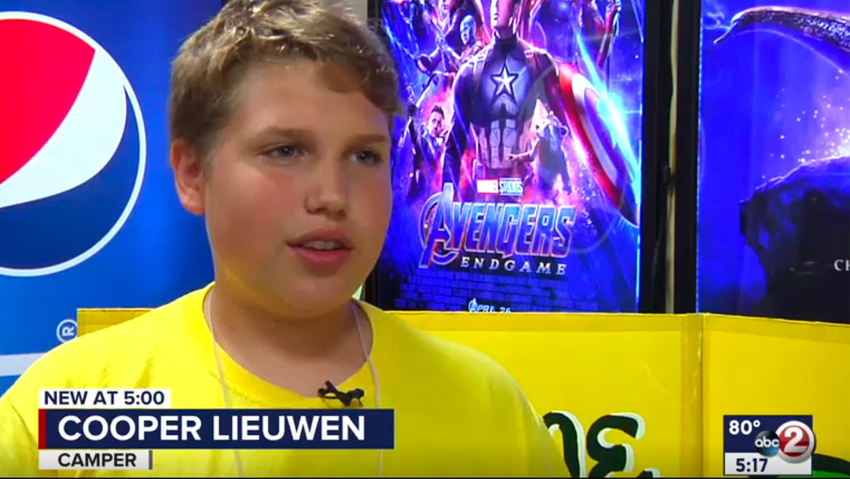 WBAY Interview of Camp Lloyd camper Cooper Lieuwen