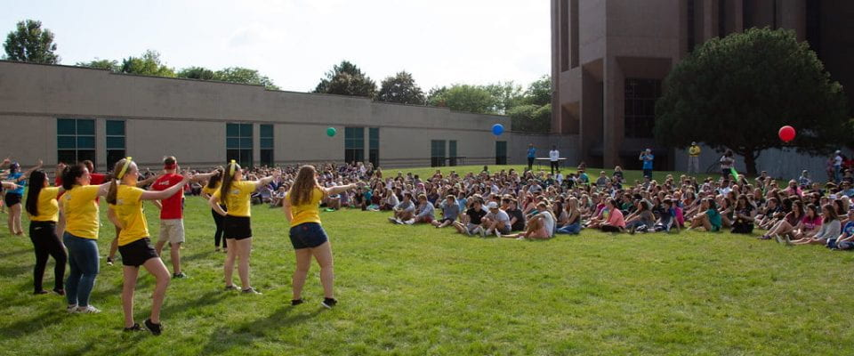 GB Welcome pep rally in the quad