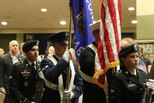 Color Guard at Chancellor's Veteran reception