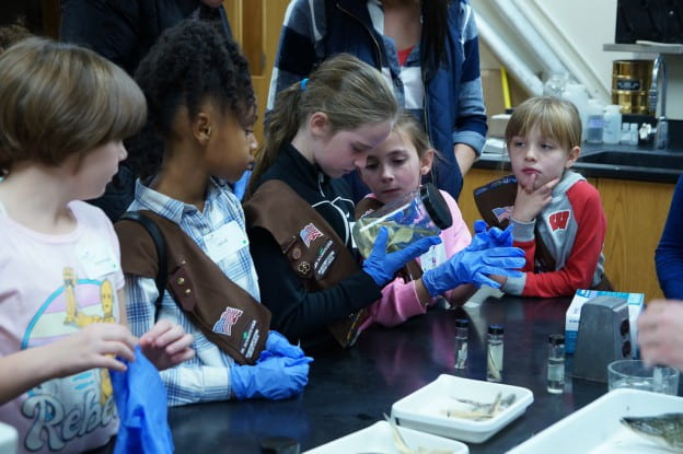 Girl Scouts Water Event at UW-Green Bay