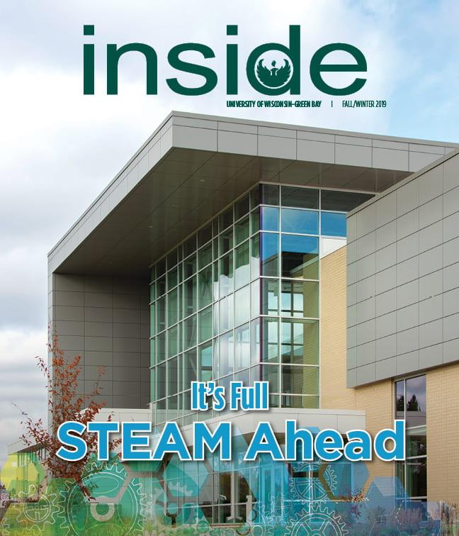 It's Full STEAM Ahead Inside Magazine Cover, Fall/Winter 2019