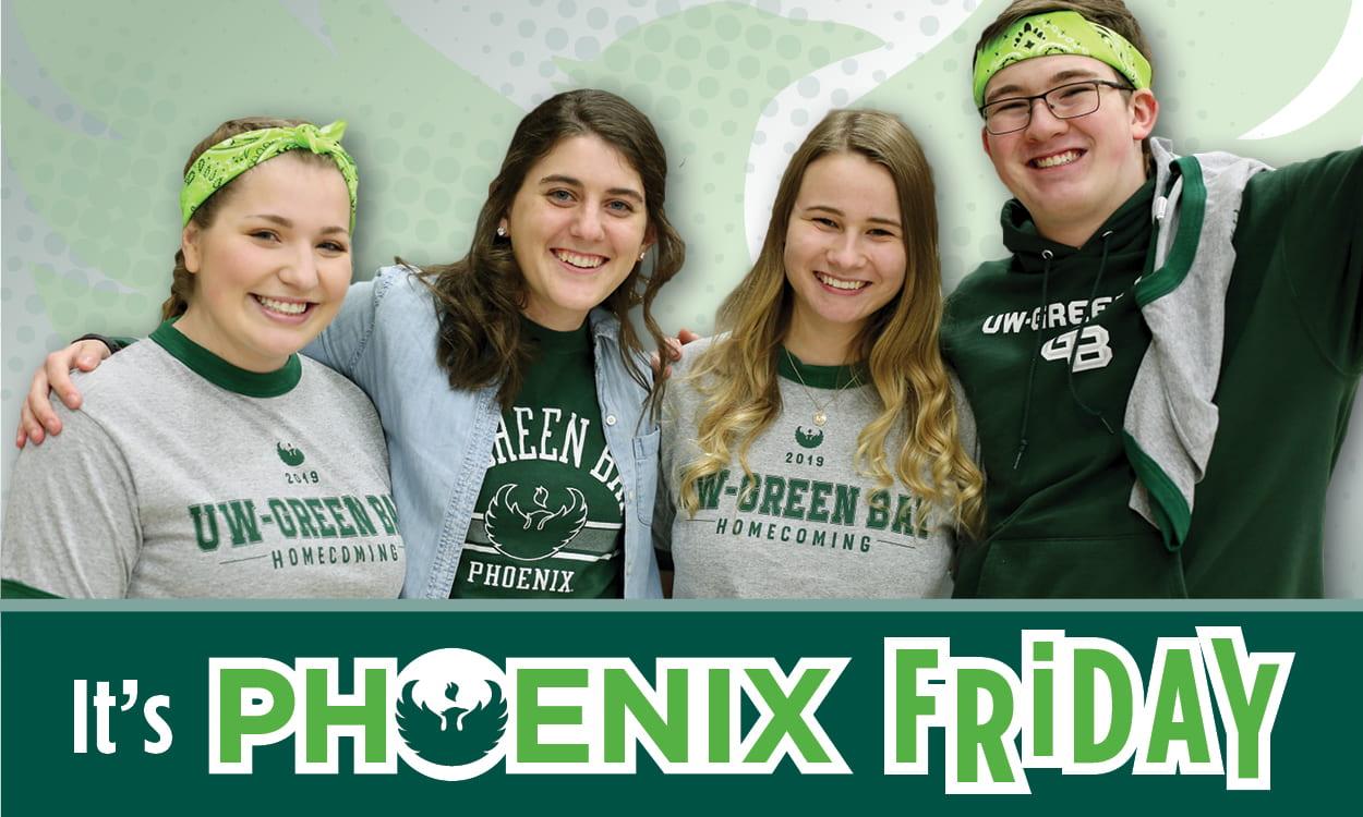 It's Phoenix Friday! - photo of students wearing Phoenix apparel