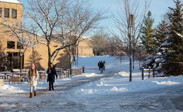 Snow at University Union