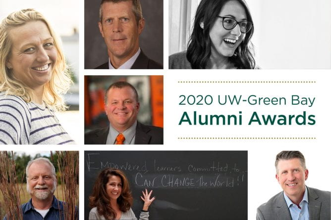 2020 UW-Green Bay Alumni Awards Collage