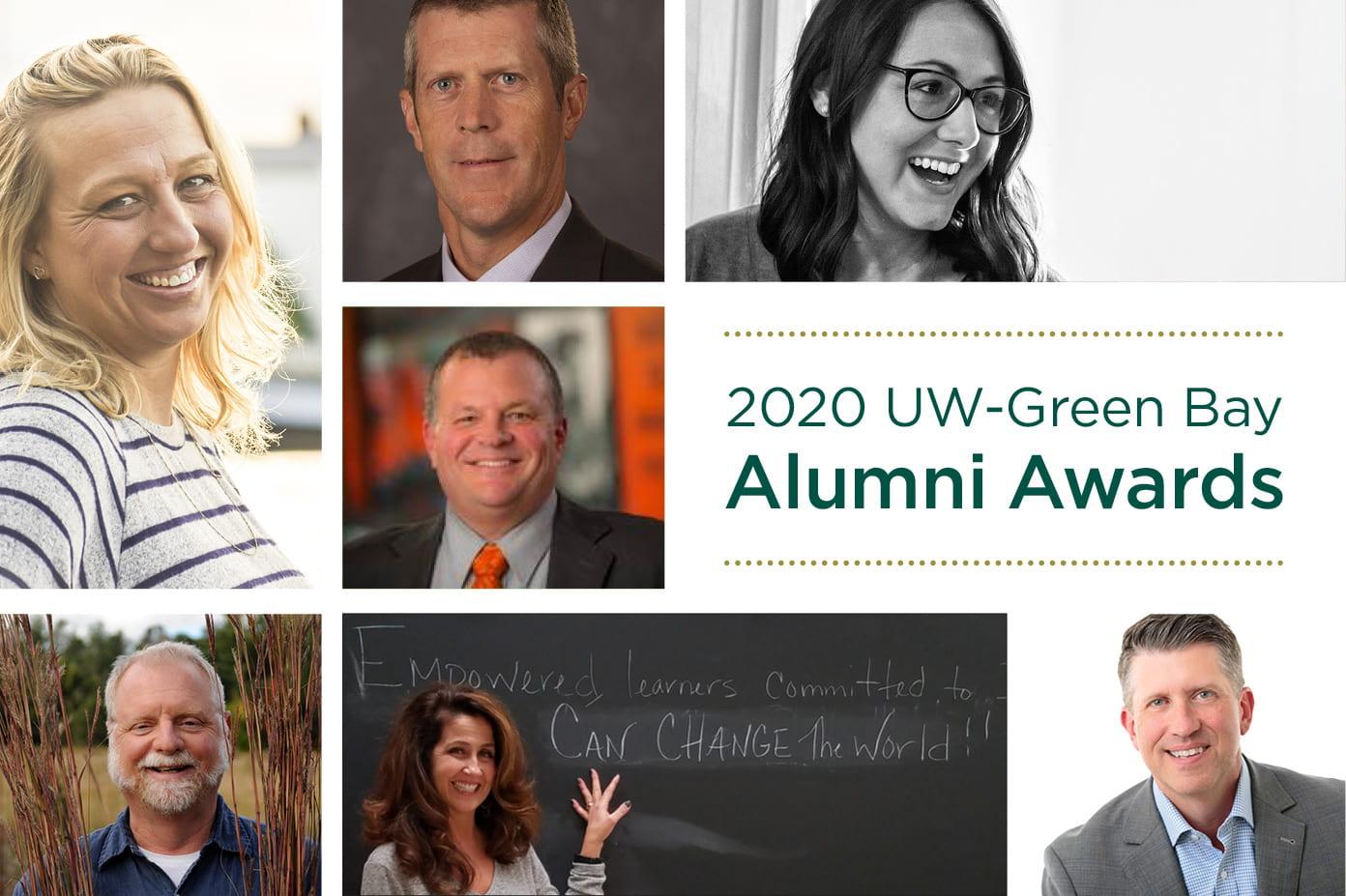2020 UW-Green Bay Alumni Awards Collage