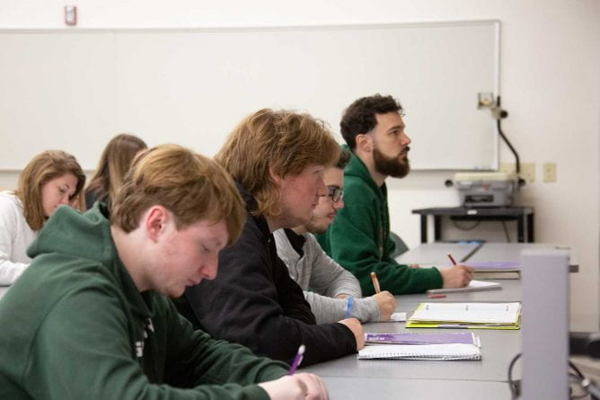 UW-Green Bay Math Classroom