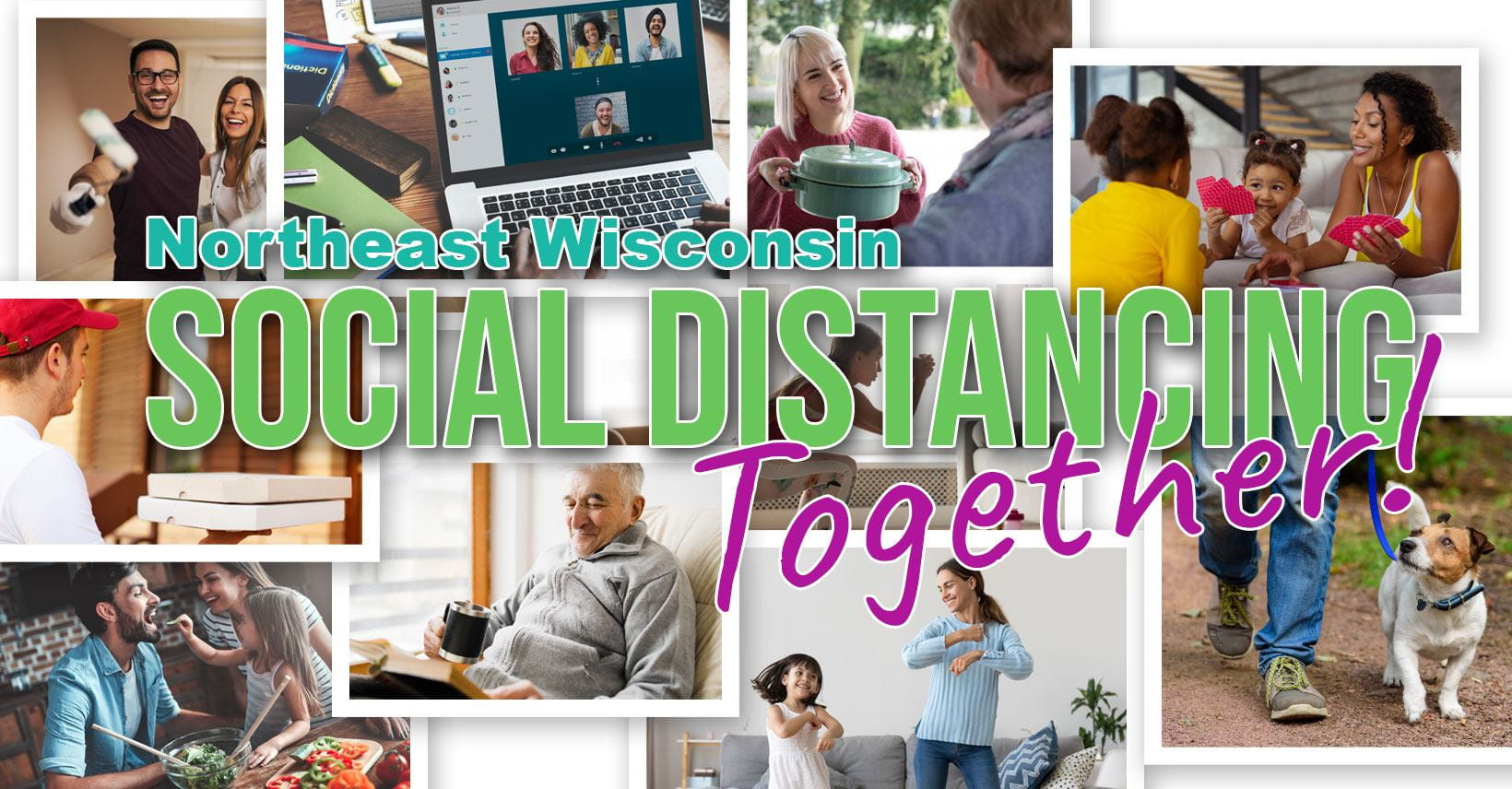NEW Social Distancing - Together facebook group cover image
