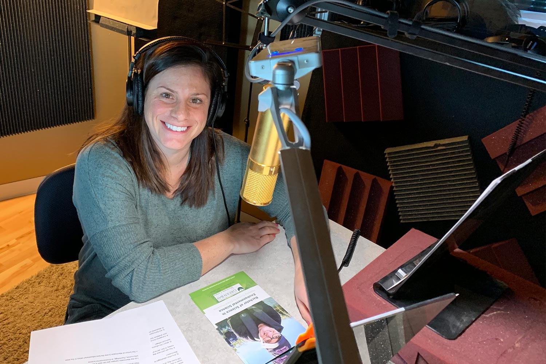 Rachele Bakic in the radio studio