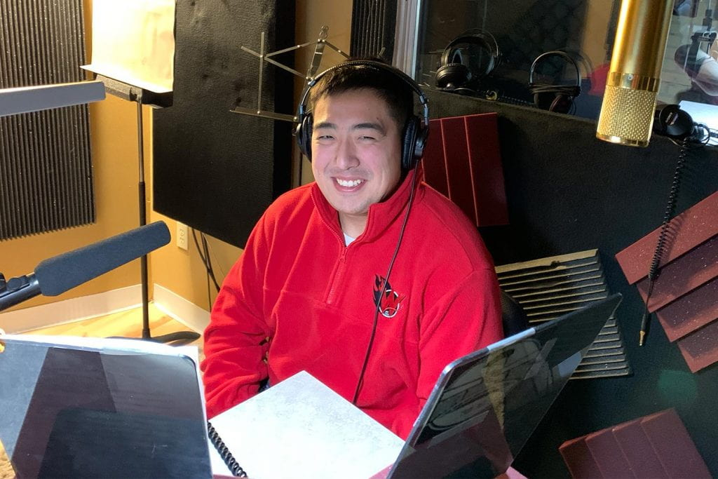 Kevin Cervantes in studio