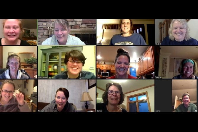 UW-Green Bay virtual bunco meeting