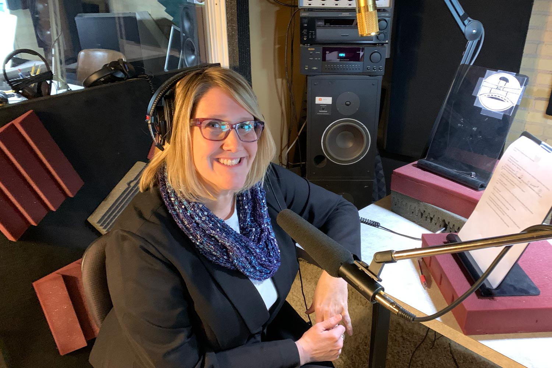Cindy Bailey in the recording studio
