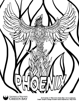Phoenix Sculpture coloring page