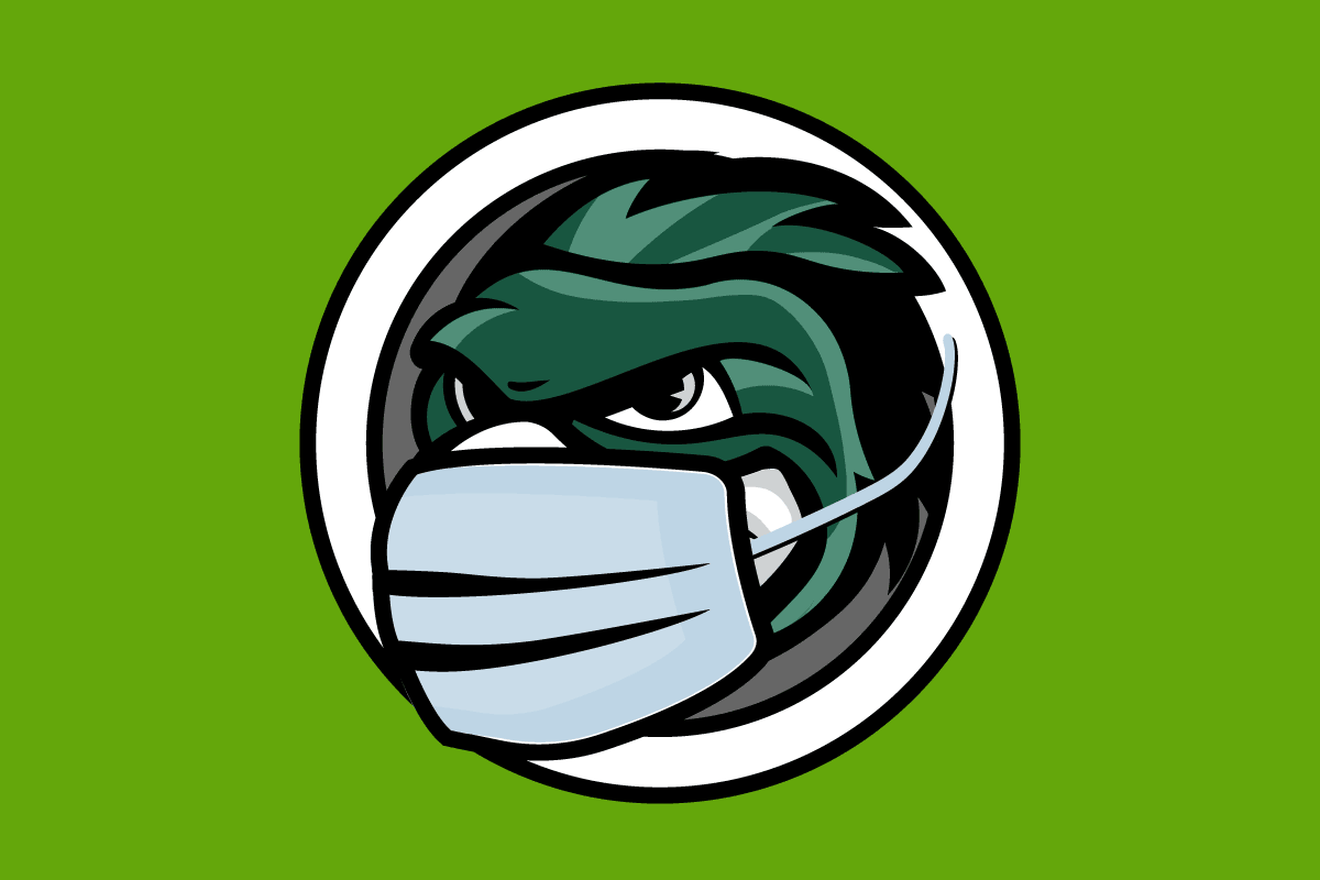 Phlash Mascot in a Mask illustration