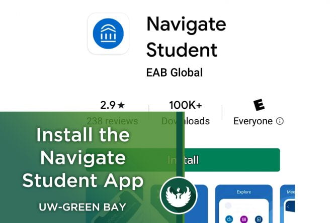 Photo of the Navigate Student app install screen.