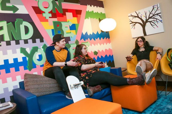 LGBTQ students in the Green Bay Campus Pride Center