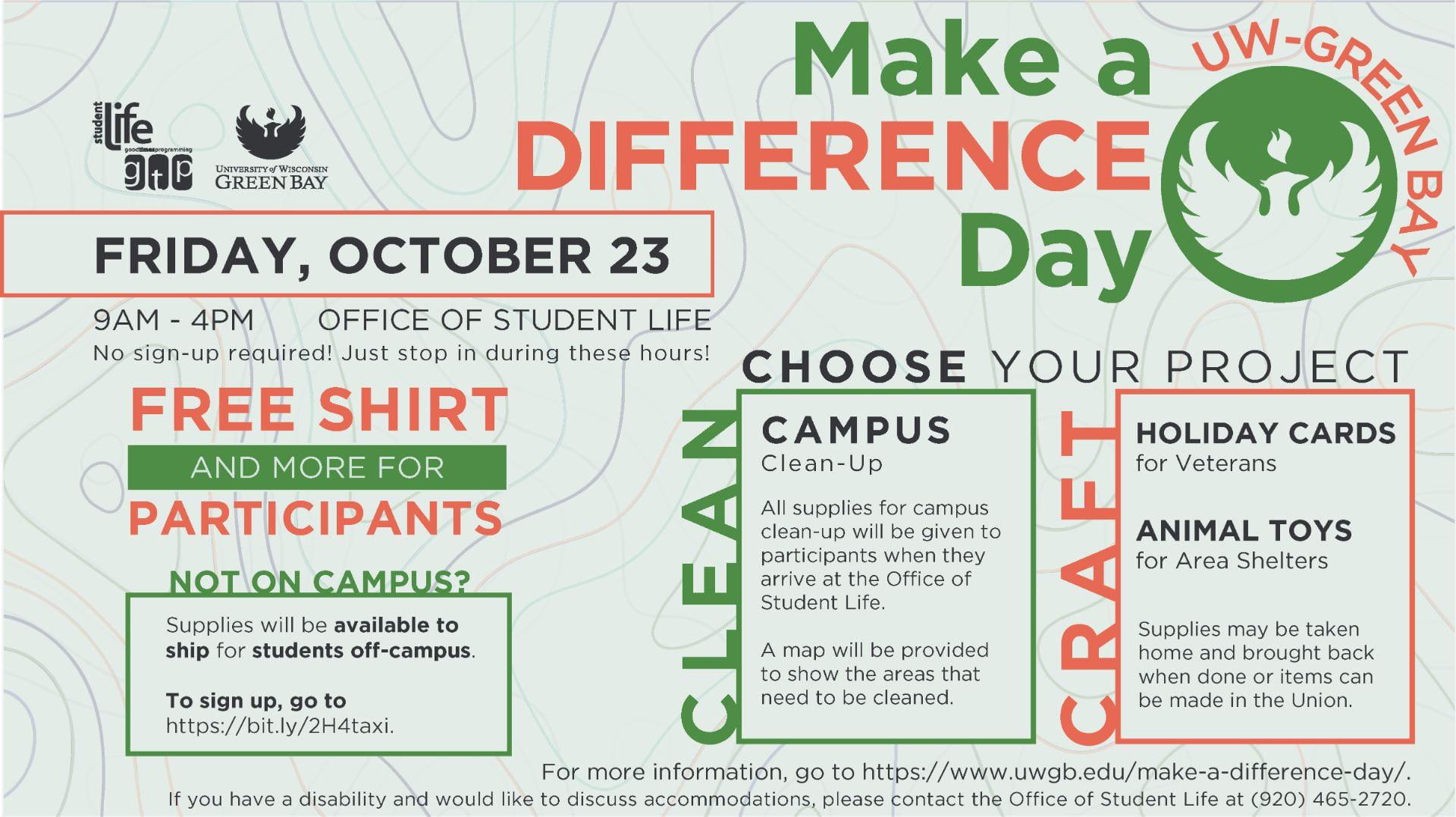 Make a Difference Day Poster