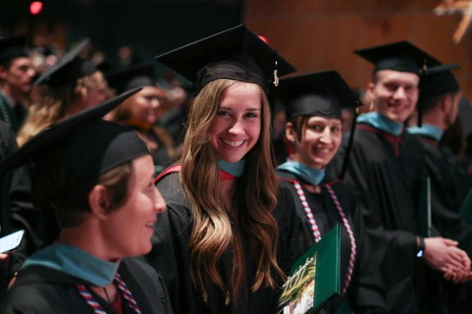 Graduates at UW-Green Bay's 2019 winter commencement ceremony