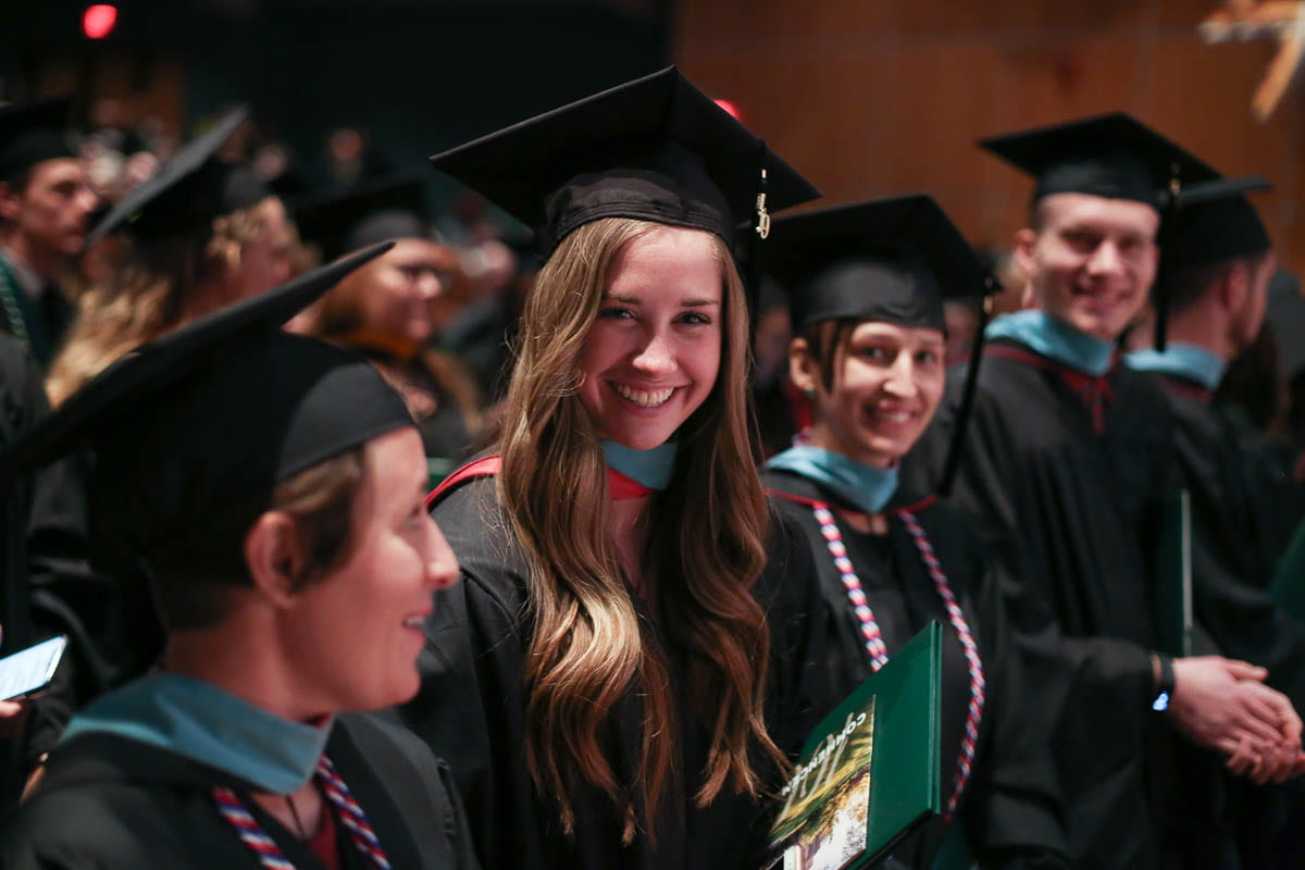 Graduates at UW-Green Bay's 2019 winter commencement ceremony