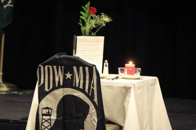Missing Person table setting, Veterans Day Celebration