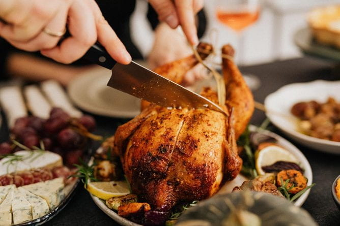 Carving Turkey Dinner