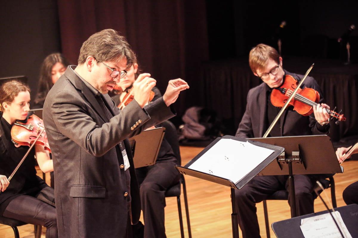 UW-Green Bay String Ensemble playing Dec. 2019
