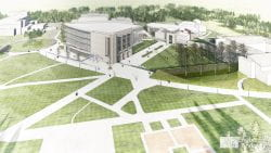 Cofrin Research Center architectural rendering aerial view