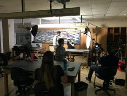 Students interviewed for Discover Wisconsin