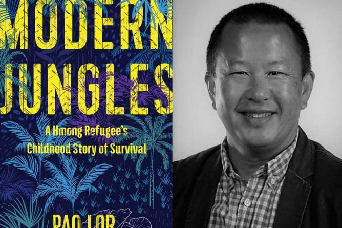 Modern Jungles A Hmong Refugee's Childhood Story of Survival book cover with Author Pao Lor's portrait
