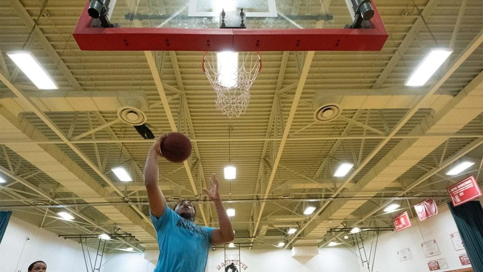 Marinette Campus Field House basketball gym