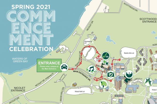 Spring 2021 Commencement Celebration Map