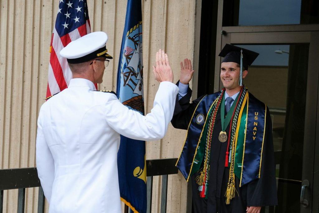 UW-Green Bay Graduate Takes Navy Oath