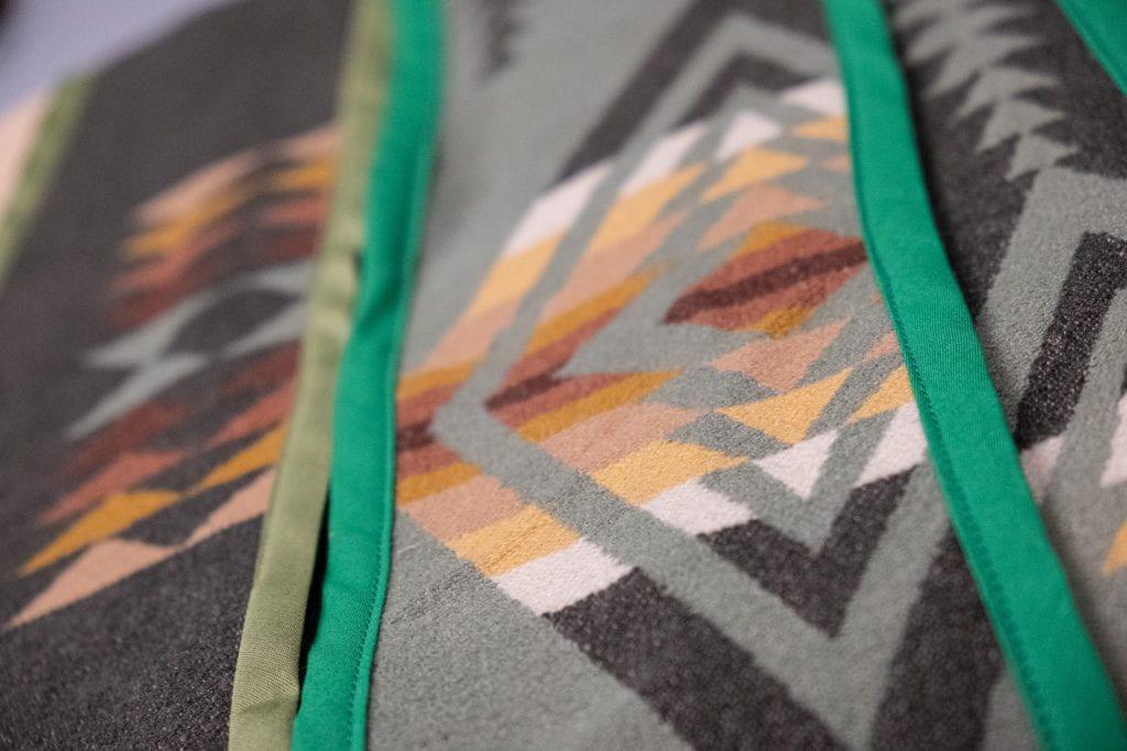 Detail of indigenous graduate stoles