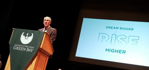 Chancellor Alexander addresses Convocation 2021 attendees.