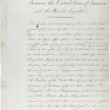 Treaty between the United States of America and the French Republic ceding the province of Louisiana to the United States, 04/30/1803.