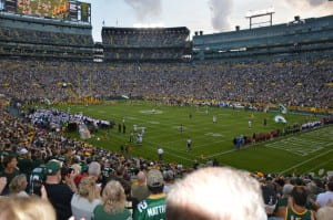 A bunch of exchange students went to see a Packers game to see what the hype was about.