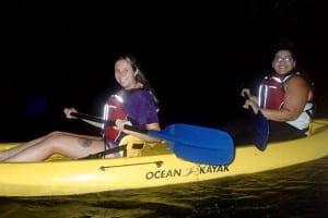 Kayaking to the bioluminescent bay in Fajardo