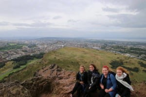 Climbing Arthur's Seat in Edinburgh