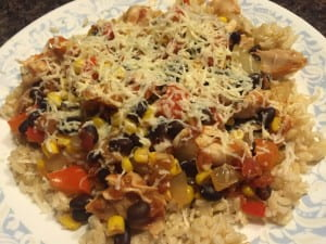 Recipe Card - Salsa Chicken and Rice