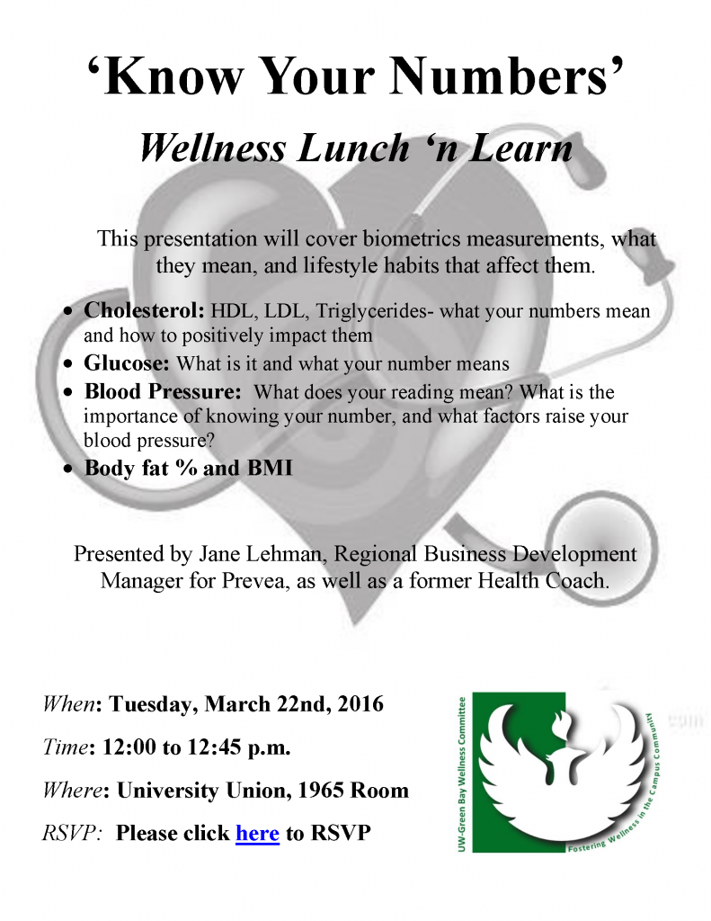 Wellness Lunch 'N Learn Poster