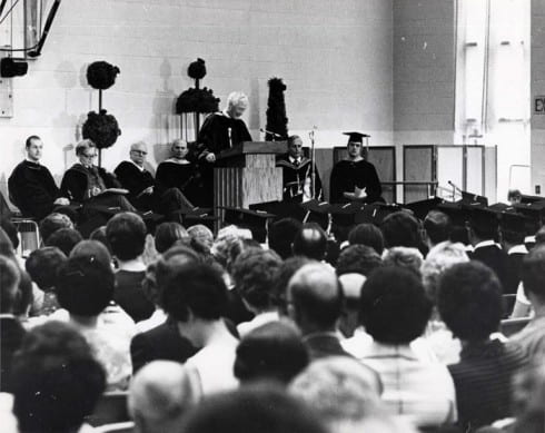 Photo memory 13 - UW-Green Bay's first commencement June 1, 1970