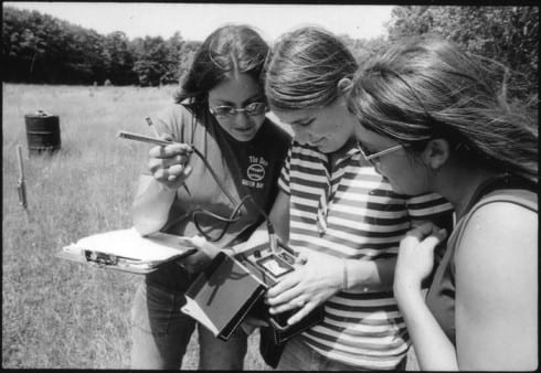 Photo memory 15 - three women collecting field data