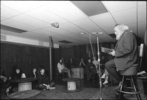 Photo memory 40 - Poetry reading at the old coffeehouse