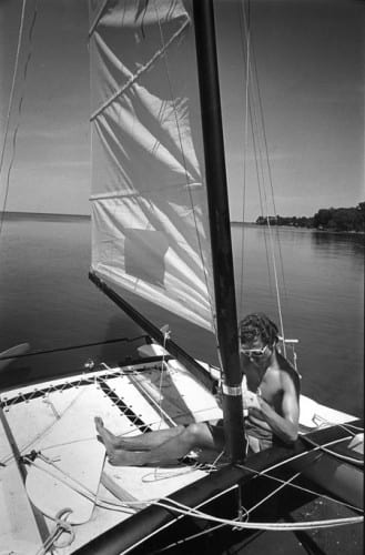 Photo memory 72 -Sailor and sailboat c.1980