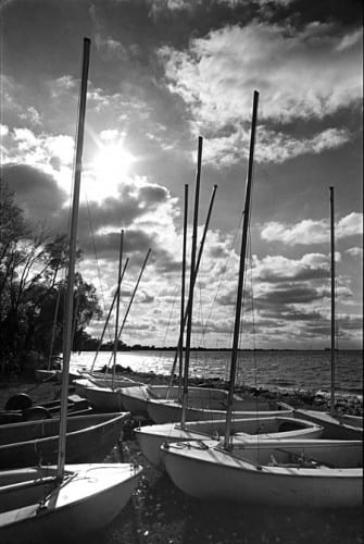 Photo memory 73 - Sailboats on the shore, 1980s